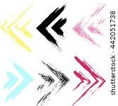 cute seamless pattern. grunge...   Shutterstock . vector #442051738