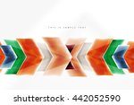 glass glossy arrow motion... | Shutterstock .eps vector #442052590