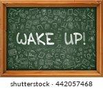 wake up   handwritten... | Shutterstock . vector #442057468