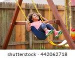 Kid Toddler Girl Swinging On A...