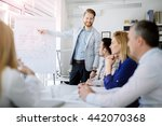 lecture and  training  in... | Shutterstock . vector #442070368