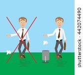 vector illustration  man should ... | Shutterstock .eps vector #442074490