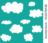 clouds icon set on blue sky...