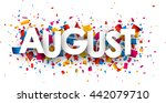 august sign with colour... | Shutterstock .eps vector #442079710