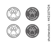 cruelty free   not tested on... | Shutterstock .eps vector #442107424