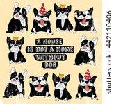 dog french group bulldog...   Shutterstock .eps vector #442110406