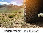 Closeup Photo Of Car Wheel On...