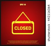 closed icon | Shutterstock .eps vector #442116364