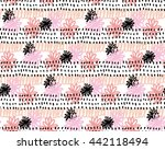 abstract flower and dots... | Shutterstock . vector #442118494