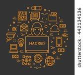 vector concept hackers and... | Shutterstock .eps vector #442134136