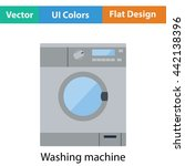 washing machine icon. flat...