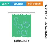 bath curtain icon. flat color...