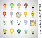 bulb icons set   isolated on... | Shutterstock .eps vector #442147504