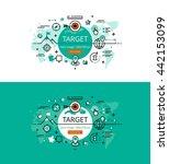 set of modern vector... | Shutterstock .eps vector #442153099