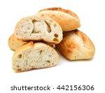 mini bread on white background    Shutterstock . vector #442156306