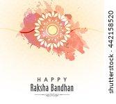 elegant greeting card design... | Shutterstock .eps vector #442158520