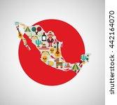 mexican culture design  | Shutterstock .eps vector #442164070