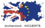 brexit. flag of britain and the ... | Shutterstock .eps vector #442180978
