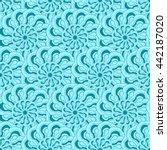 seamless creative hand drawn... | Shutterstock .eps vector #442187020