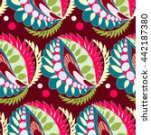 bright seamless pattern in boho ... | Shutterstock .eps vector #442187380