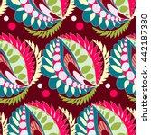 bright seamless pattern in boho ... | Shutterstock .eps vector #442187380
