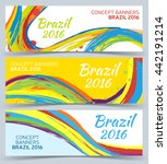 Abstract Banners Set  Vector...