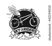 flying urban sport  bicycle...   Shutterstock .eps vector #442194010
