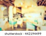 abstract blur restaurant... | Shutterstock . vector #442194499