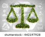 ecology balance   3d...   Shutterstock . vector #442197928