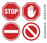 vector stop sign icons | Shutterstock .eps vector #442201150