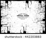 grunge frame   abstract texture.... | Shutterstock .eps vector #442203883