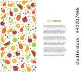 vector fruit banner or flyer... | Shutterstock .eps vector #442207468