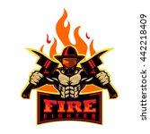 fire fighter   Shutterstock .eps vector #442218409