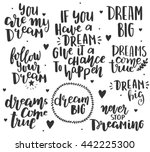 hand drawn lettering on white... | Shutterstock .eps vector #442225300