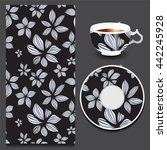 vector seamless orient pattern...   Shutterstock .eps vector #442245928