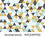 colorful geometric triangle...   Shutterstock .eps vector #442249930