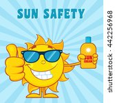 Smiling Summer Sun Cartoon...