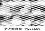 halftone dots vector texture... | Shutterstock .eps vector #442263208