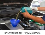 car mechanic replacing and...   Shutterstock . vector #442268908