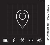 map pointer flat line icon ...