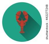 lobster icon. flat color design....