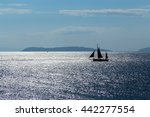 Sailboat Sailing On Aegean Sea...