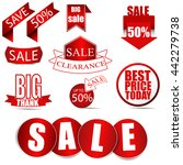 vector sale tags  price labels. ... | Shutterstock .eps vector #442279738