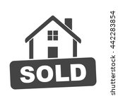 sold house. flat vector...