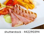 grilled bacon with potato ...