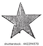 red star  vintage engraved... | Shutterstock .eps vector #442294570