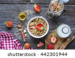 ready made granola with dried... | Shutterstock . vector #442301944