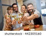 portrait of friends in a bar... | Shutterstock . vector #442305160