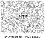 circus design colorless set... | Shutterstock .eps vector #442313680