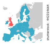 brexit theme map   map of... | Shutterstock .eps vector #442314664